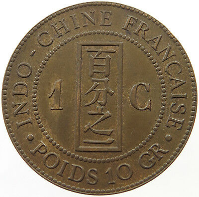 Indochina 1 Cent 1889 Top   #t20 359