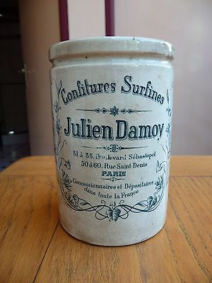 Ancien Pot A Confiture Julien Damoy