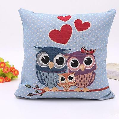 2016 New Home Car Bed Vintage 45x45cm Decorative Owl Pillow Case Cushion Cover B