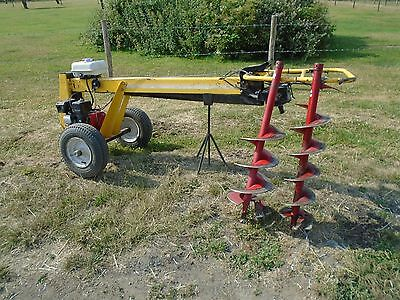 Camon hydraulic one man post hole auger borer comes with 2 augers