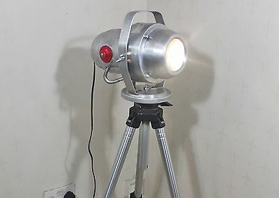 Vintage theatre lamp / industrial spot light. Aerofog 300 with manfrotto tripod