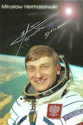 4x6 Sized Autographed Photo of First Polish Astronaut Miroslaw Hermaszewski
