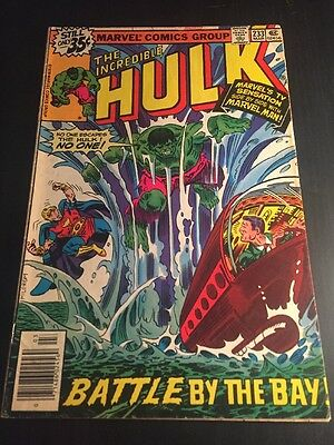 Incredible Hulk#233 Awesome Condition 8.0 Final Marvel Man, Buscema Art(1979)