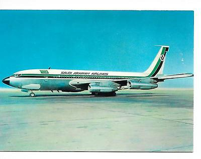 Airline issue postcard-Saudi Arabian Airlines B720 aircraft