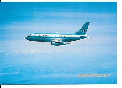 Airline issue postcard-All Nippon Airways Japan B737 aircraft
