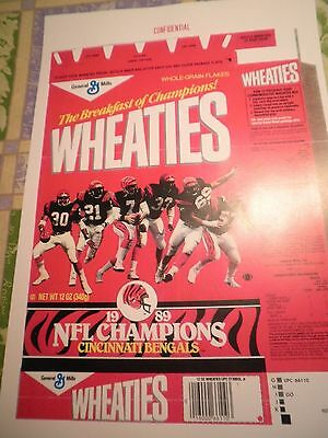 + Free Fb Cards  Wheaties  Cincinnati Bengals `confidential `general Mills Print