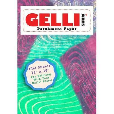 NEW Gelli Arts, Parchment Paper, Flat Sheets, 12x16in, approx 50 sheets
