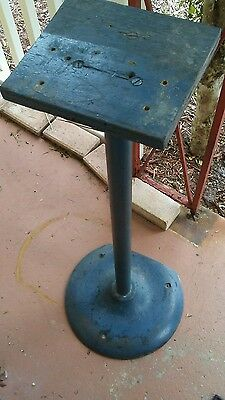 Vintage U.s. Postage Stamps Vending Machine Base Pedestal 3'  Iron Steel
