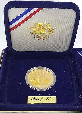 1984-S $10 Olympic Proof US Mint Commemorative Eagle Gold Coin w/ Packaging