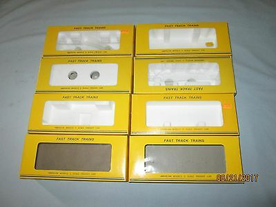 8 Original American models S Scale Freight Car Boxes.