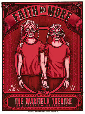 Zoltron - Faith No More 2015 - Official Screenprint - SF Warfield
