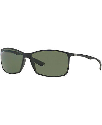 Ray Ban Liteforce Tech RB4179 Polarized Matte Black/Green Classic Lens 62mm