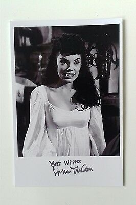 """HAMMER HORROR - Actress Yvonne Monlaur Reproduced Autograph 6""""X4"""" Glossy Pic"""