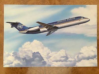 Midway Express airline issued postcard