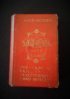 1933 Waddingtons Lexicon Card Game In Slipcase With Rules