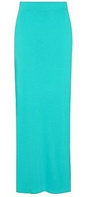 GEORGE Turquoise Blue Long Stretch Jersey Side Split Maxi Skirt! Size 18!