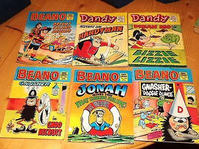 6 Beano And Dandy Comic Library In Excellent Condition