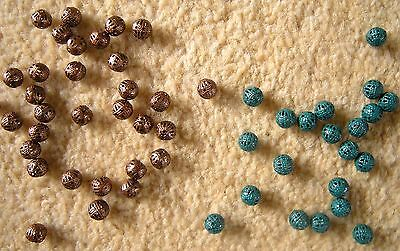 Little metal beads, two sets. NEW