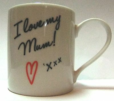 JOBLOT 5 X I Love My Mum Mug, Fine China, Mothers Day, Birthday Gift