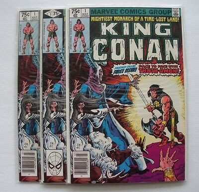 King Conan #1 (Mar 1980, Marvel) (You will receive three copies) NM  9.4 - 9.6