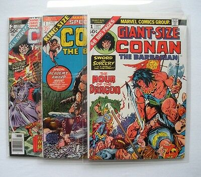 Giant-Size Conan # 1 and King Size Conan # 1 & 2  (Three copies NM 9.4 +) WOW!!!