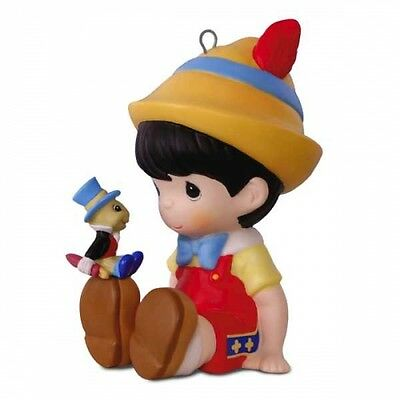 Precious Moments Pinocchio and Jiminy Cricket 2017 Hallmark Disney Ornament  PRE