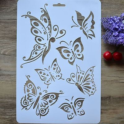 2PCS DIY Craft Tools Paper Cards Stamps Album Scrapbooking Butterfly Stencils