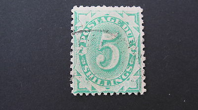 Australia 1903  5/- Postage Due SG D33 fine used cat £23