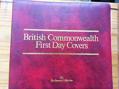 """The Sumner Collection"" British Commonwealth First Day Cover in Album Lot #2"
