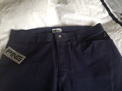 "PING Mens Navy Golf Trousers 34"" Short (inside leg 30 inches)"