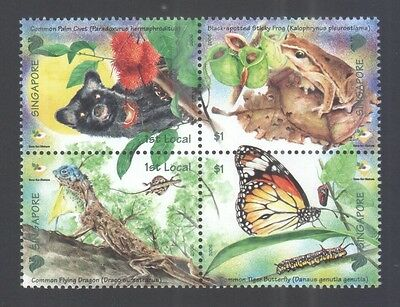 Singapore 2006 Fun With Nature Block Comp. Set Of 4 Stamps Sc#1234 In Mint Mnh
