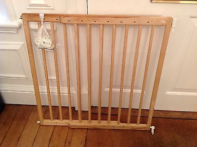 MOTHERCARE Wooden Stairgate Baby Safety Gate, Extendable - 100% For Charity!