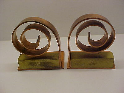 Pair Bookends DECO MACHINE AGE STREAMLINE DESIGN CHASE by WALTER VON NESSEN obo
