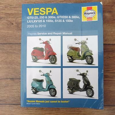 Haynes 4898 Service Repair Manual - Vespa 2005 To 2010 - See Listing For Models