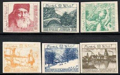 Azerbaijan 1920s/30s Imperf Set of 6 Mint Hinged - Catalogue Numbers Not Known