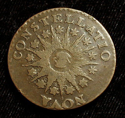 1785 US Colonial Nova Point Rays Constellatio Coin Smooth Surface Free S&H