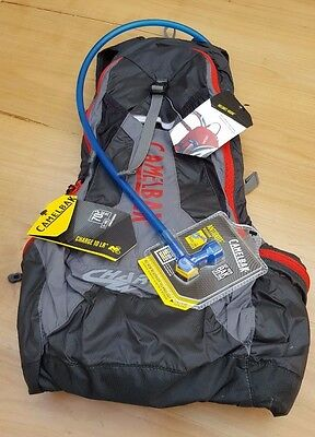 New Camlebak Charge 10 LR Hydration Pack Cycle Back Pack - Red / Black / Grey