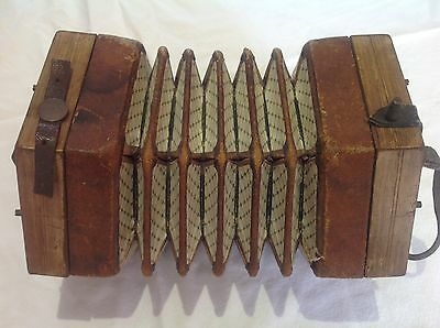 Antique / Vintage Concertina For Spares Or Repair