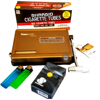 Powermatic 150 Gold Cigarette Machine + FF Tubes, Lighters and Cigarette case
