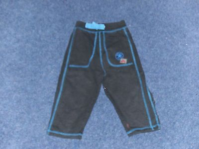 Baby boy black jogging trousers age 9 to 12 months
