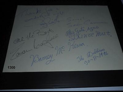 The Dubliners -  Autograph - Autogramme - signed - 1996 - In Person - signiert