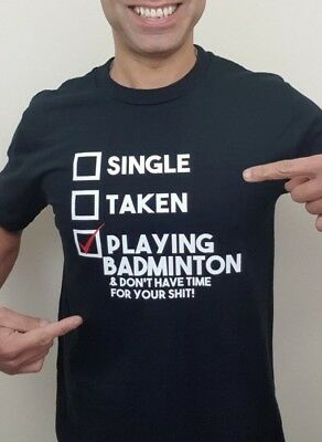 Playing Badminton  T shirt New  Funny Gift