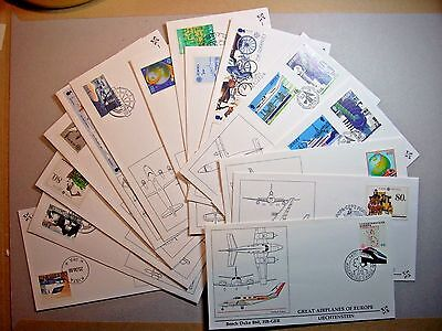 1988 Collection 15 Europa Great Airplanes Of Europe Covers All Pictured