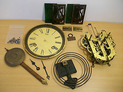 LOT OF VINTAGE WALL CLOCK MOVEMENT PARTS REPAIR Standard H Frame Mechanism