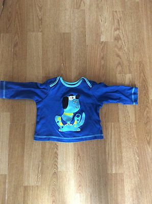 Boys Blue Dog Top From George Size 3-6 Months