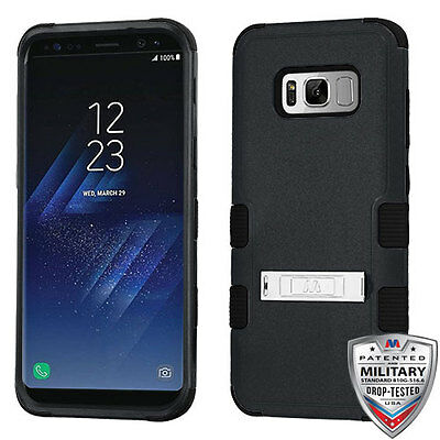 For Samsung GALAXY S8 /PLUS Hybrid Rugged Shockproof Protective Stand Case Cover