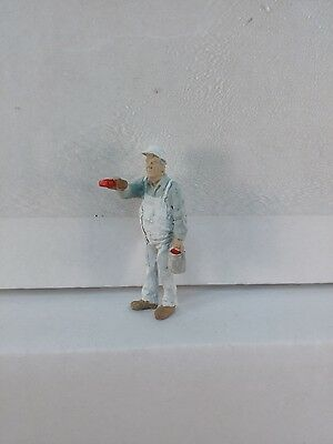Arttista Man Painting #1201- O Scale On30 On3 figures people Painter artista New