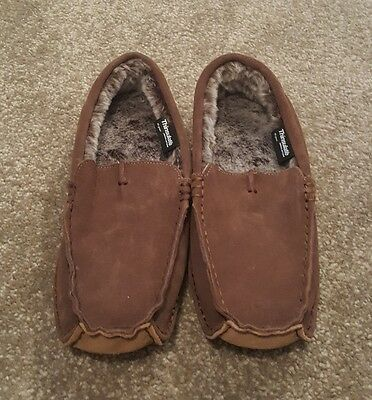 Marks and spencer Thinsulate brown leather slippers size 6 BNWT