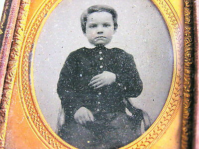 Antique Photo Photograph Child Boy Ambrotype 9th Ninth Plate