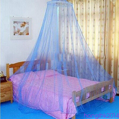 1*Blue Round Dome Baby Infant Mosquito Net Toddler Bed Crib Canopy Net HOT